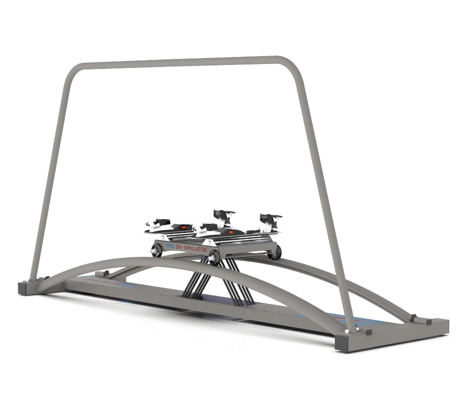 The Ski Simulator is designed to be used with your ski boots. It offers a great ski binding longitudinal ski move.